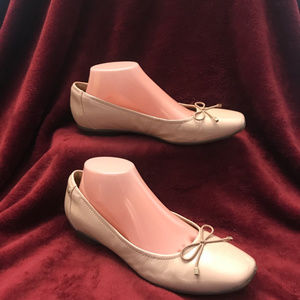 Clarks Shoes - Clarks Leather Candra Ballet Flats, Dusty Pink, 9M